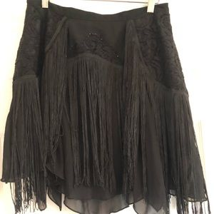 Free People fringe flapper style mini skirt.
